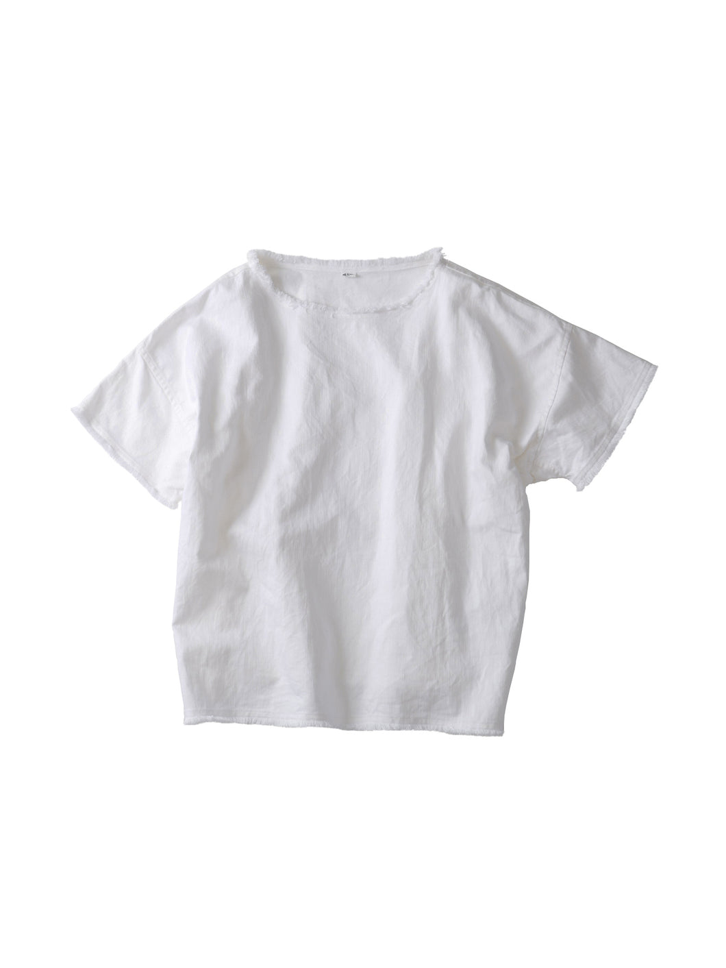 Cotton Linen Denim Big T-shirt in White