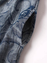 Denim Jacquard Dress