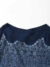 Indigo Discharge Print Copic Cotton T-shirt