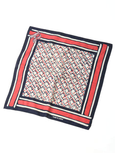 Cotton Tricot Bandana in R check indigo