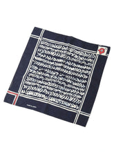 Cotton Tricot Bandana in herringboe indigo