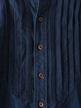 Indigo Linen Pintuck Big T-Shirt