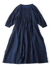 Linen Dress in indigo