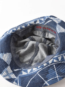 Mugi Cotton Denim Flag Bandana Hat
