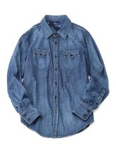 Goma Denim Cotton Eastern Shirt in indigo