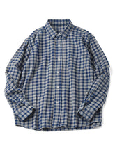 Indian Cotton Usu Flannel 908 Ocean Shirt in check