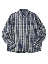 Indian Cotton Usu Flannel 908 Ocean Shirt in 123 check