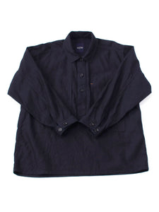 Ai Nando Awa Satin Cotton 908 Ocean Painter Shirt One Wash in ai indigo