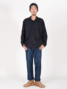 Ai Nando Awa Satin Cotton 908 Ocean Painter Shirt One Wash