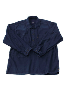 Ai Nando Awa Satin Cotton 908 Ocean Painter Shirt Distress in ai indigo