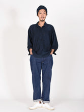 Ai Nando Awa Satin Cotton 908 Ocean Painter Shirt Distress