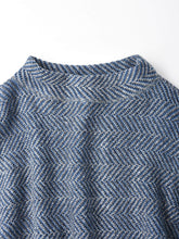 Indigo Cotton Herringbone Jacquard Big T-shirt