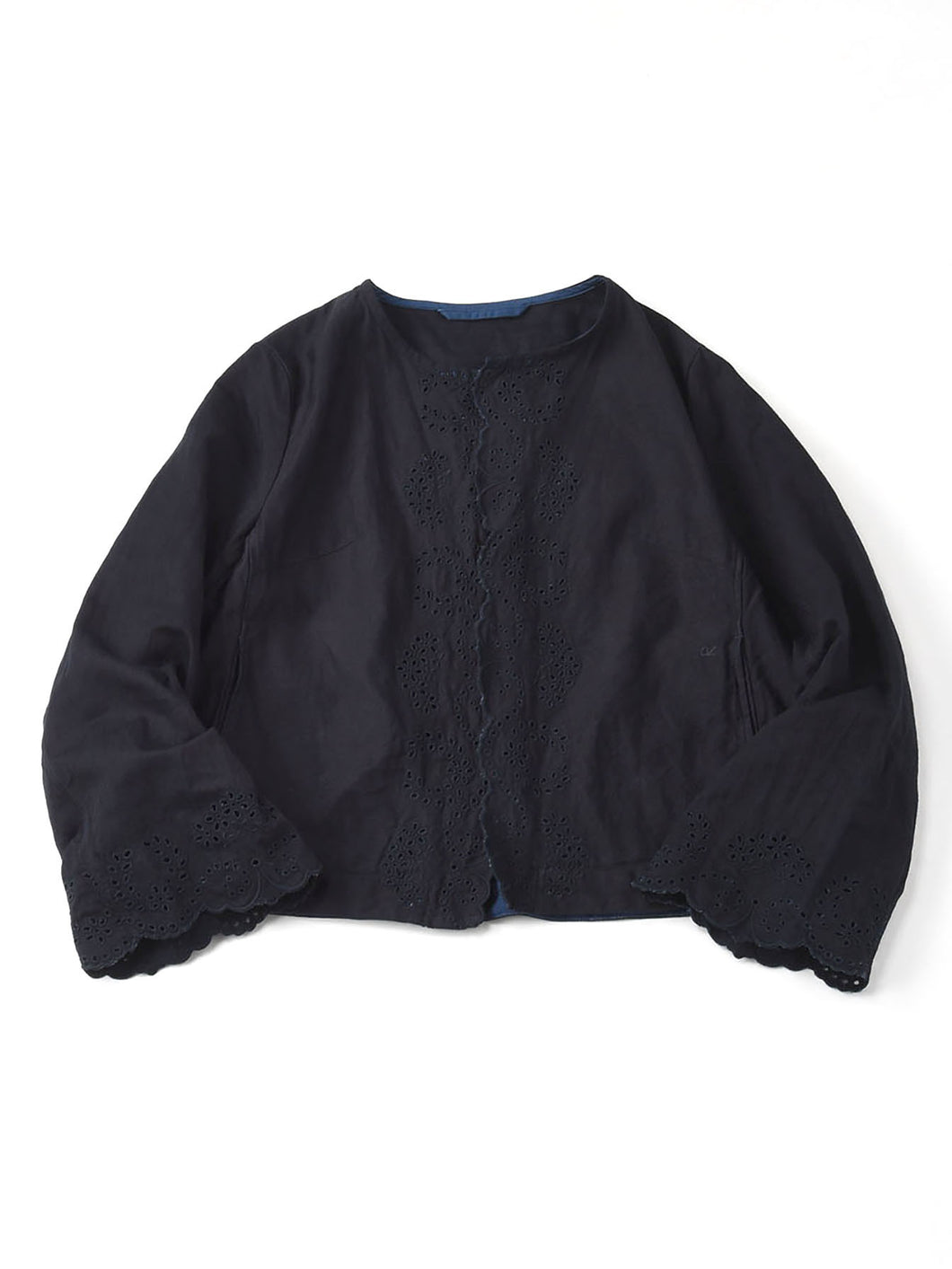 Ai Nando Awa Satin Cotton Akiya Bolero in ai indigo
