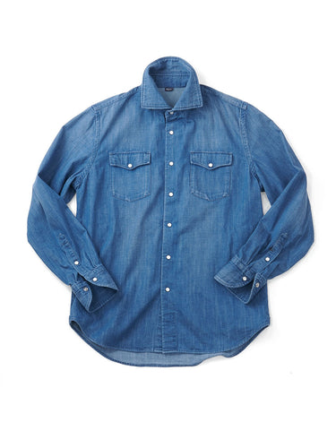 Mon Petit 908 Eastern Shirt in Indigo