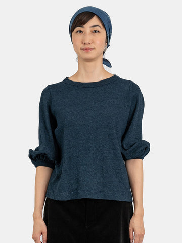 Indigo 8/- Tenjiku T-shirt (Women's One Wash)