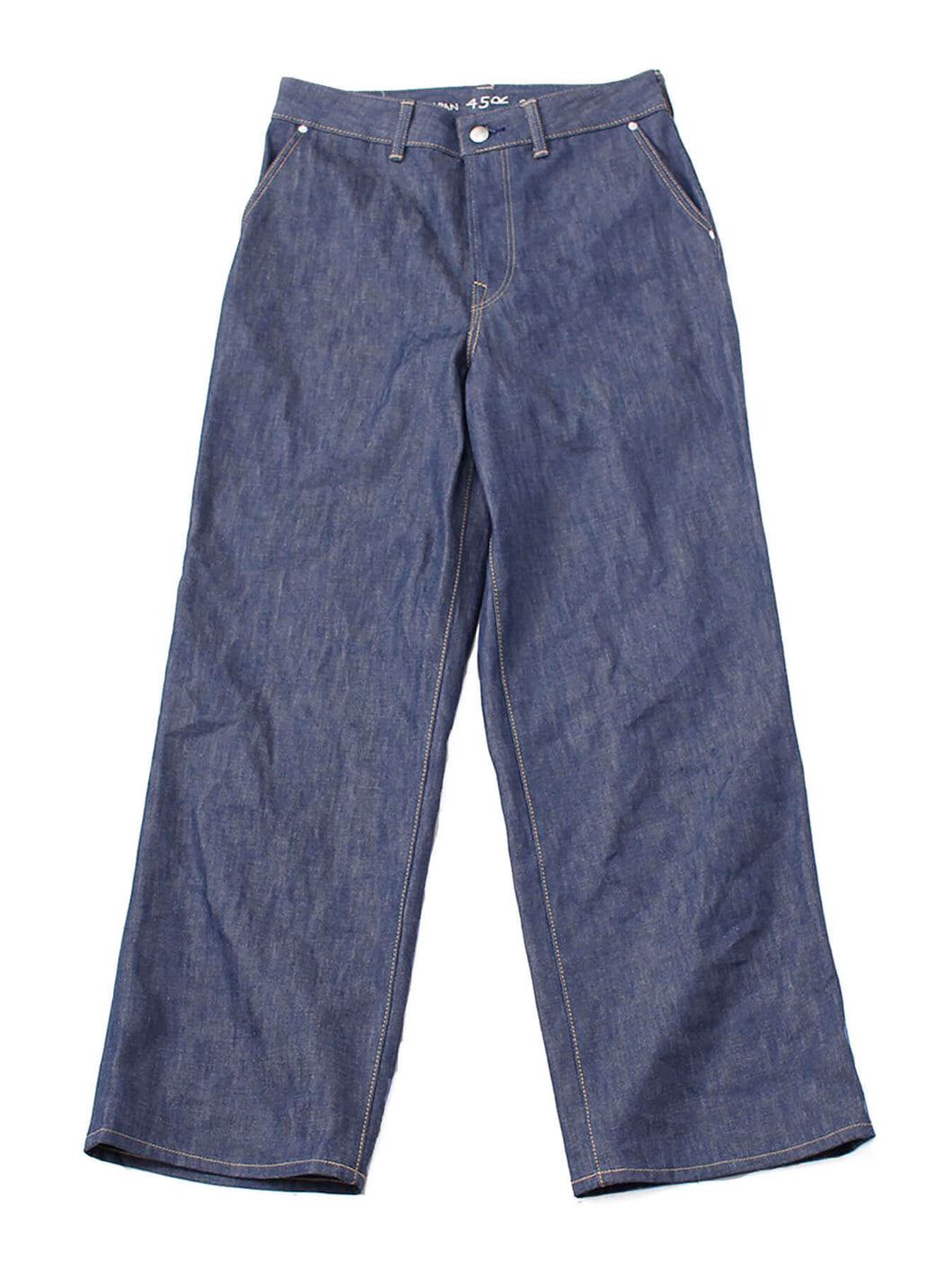 Okome Cotton Denim Charlotte Pants Non Wash in indigo