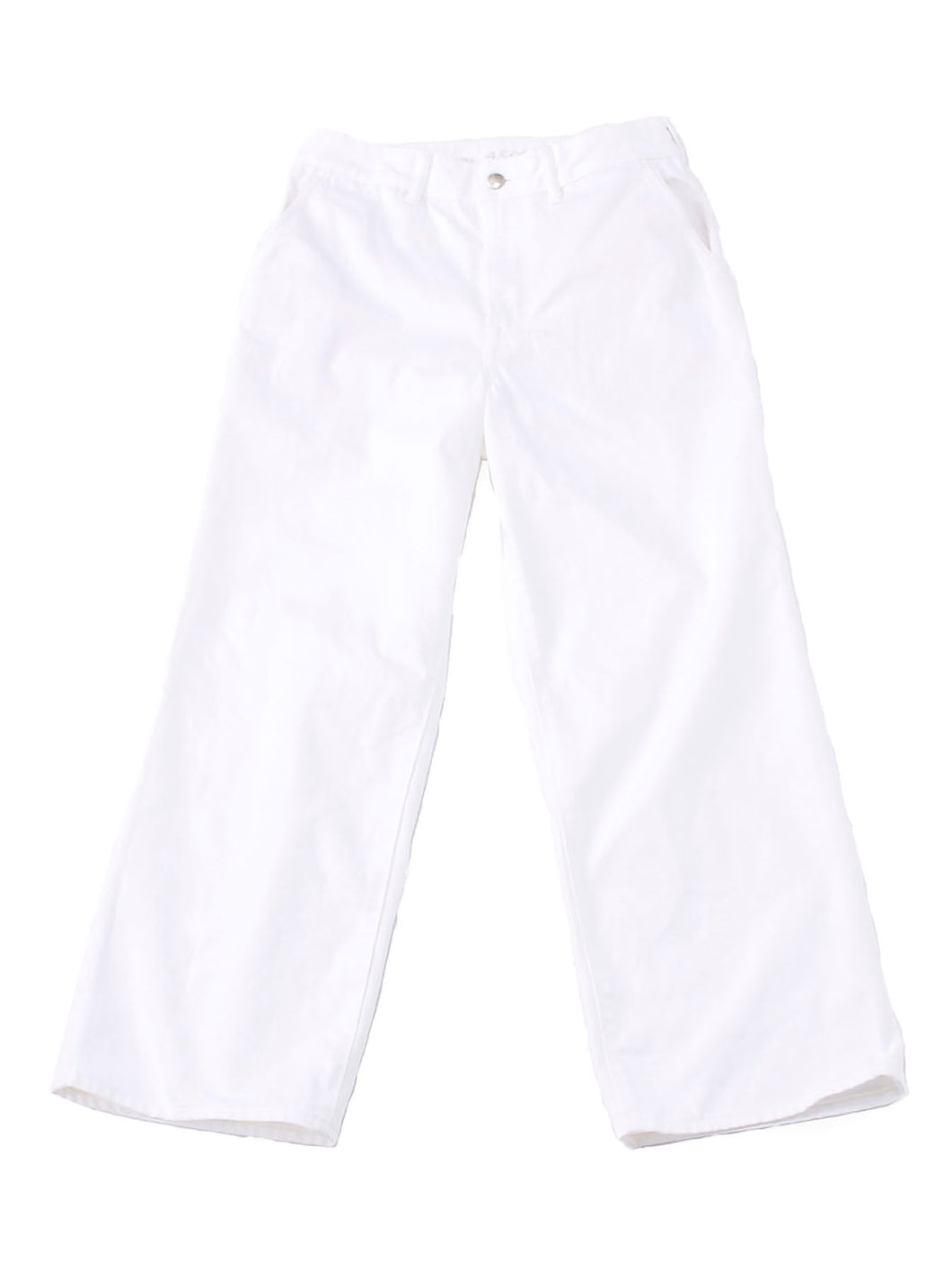 Okome Cotton White Denim Charlotte Pants in white