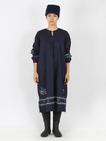 Indigo Tapet Coating Dress