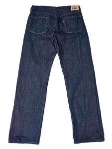 Organic Ai Dyed Front River Denim Cotton Pants