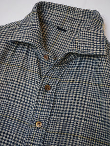 Indigo Double Woven Flannel Regular Check Shirt
