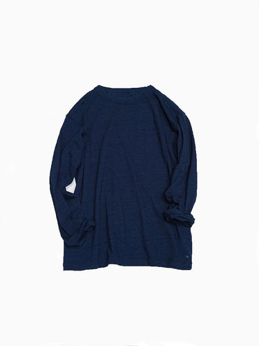 Indigo 45 Star Long Sleeve T-Shirt in Indigo Color