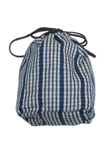 Small Size Pouch in blue gingham check