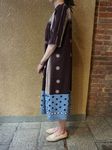 Cotton Jersey Dot Print Dress