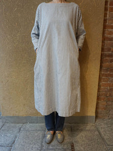Indigo Double Weave Cotton Umahiko Dress