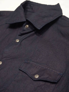 Indigo Zimba Cotton Eastern Shirt