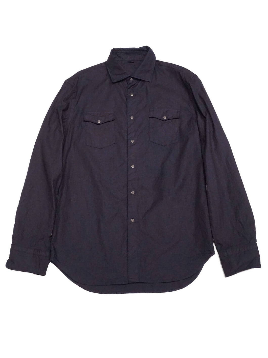 Indigo Zimba Cotton Eastern Shirt in indigo