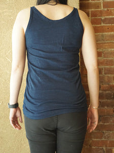 Indigo 45 Star Cotton No Sleeve Top