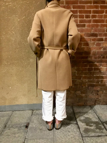 Pile Cut Melton Coat