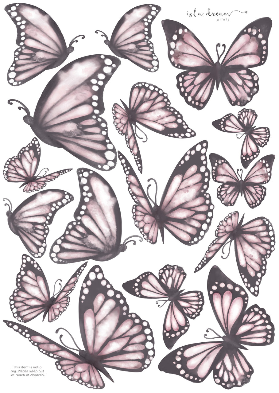 Butterflies 'the originals.' Fabric Wall Decals