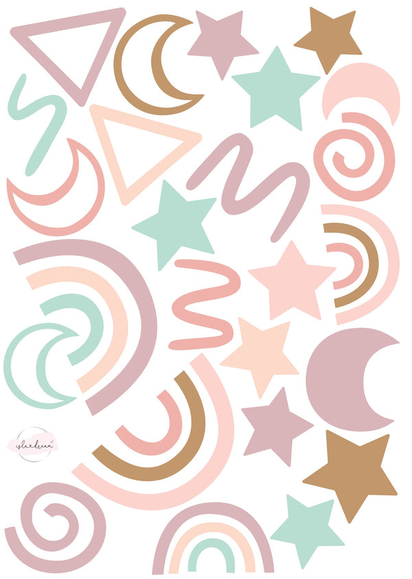 Party Popper - Fabric Wall Decals A3 & A2 (multiple colours) - Isla Dream Prints