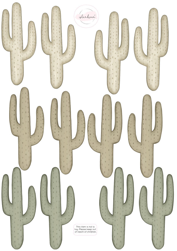 Cute as a Cactus Fabric Wall Decals A3 - Isla Dream Prints