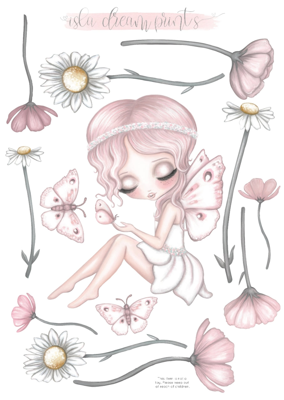 'Grace's Garden.' Fabric Wall Decals A3 - Isla Dream Prints