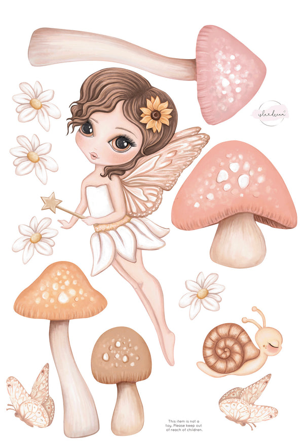 'Hazel fairy' Fabric Wall Decals A3 - Isla Dream Prints