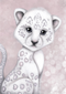 Prince the Snow Leopard Available in pink/grey - Isla Dream Prints