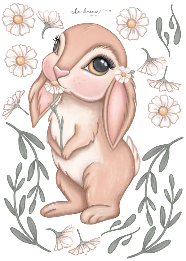 'Bunny magic' Fabric Wall Decals A3 - Isla Dream Prints