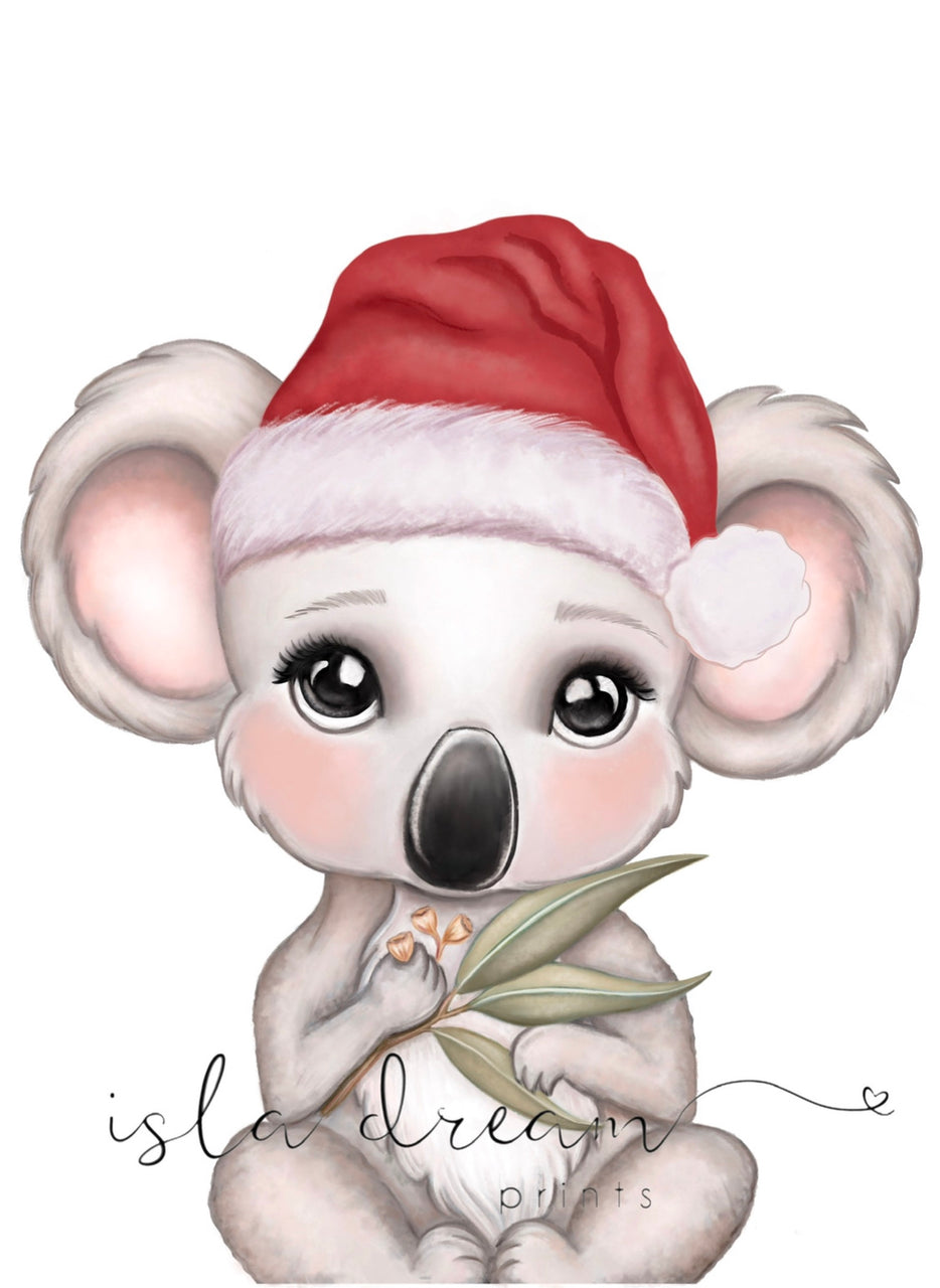 Euca koala- Christmas print - Isla Dream Prints