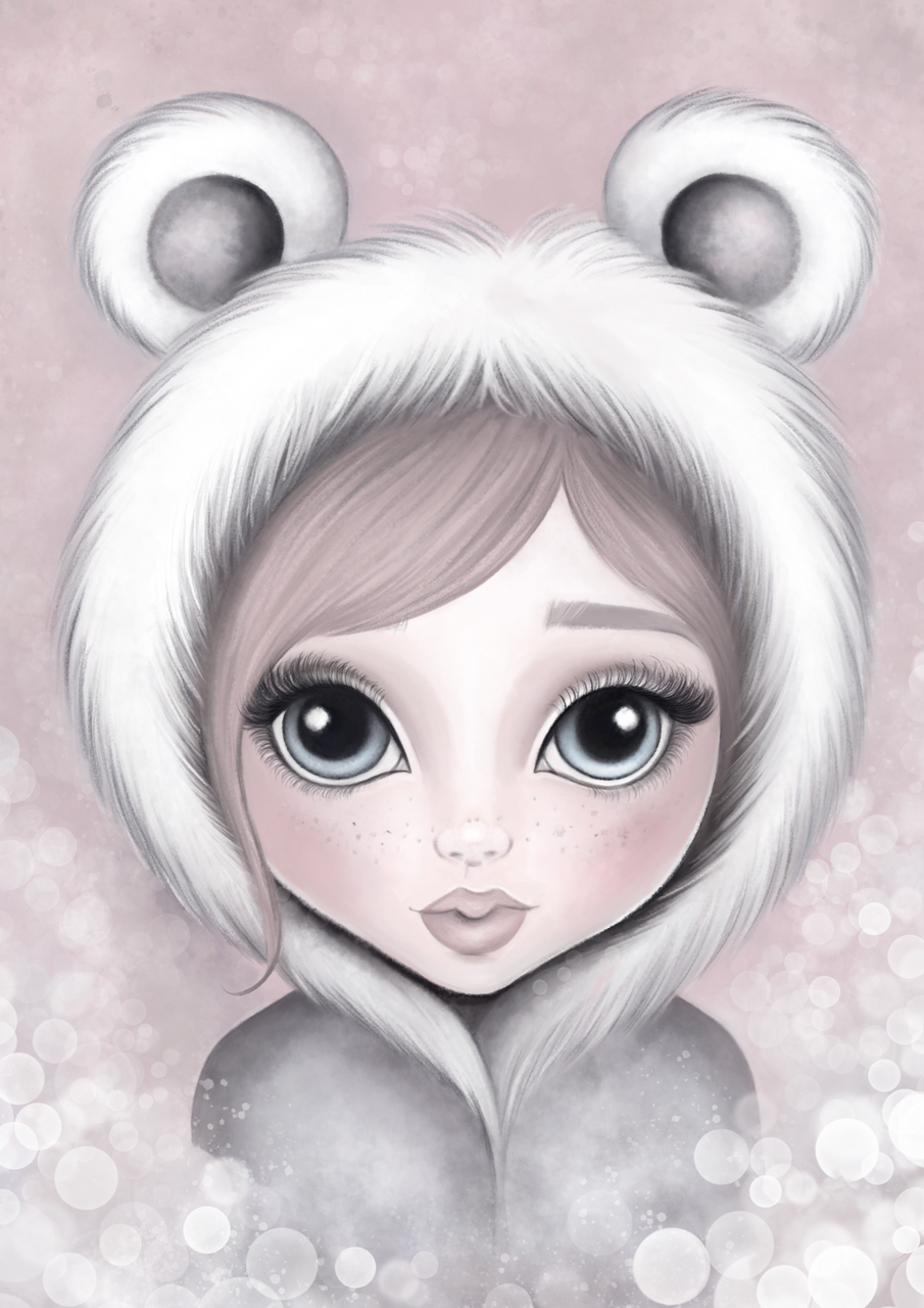Alaska Ice Fairy print: available in pink/grey - Isla Dream Prints