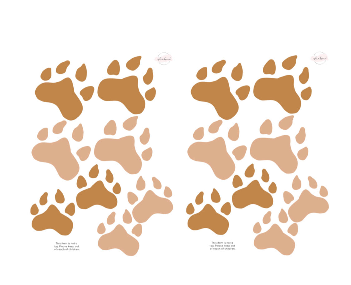 'Animal tracks' Fabric Wall Decals - Isla Dream Prints