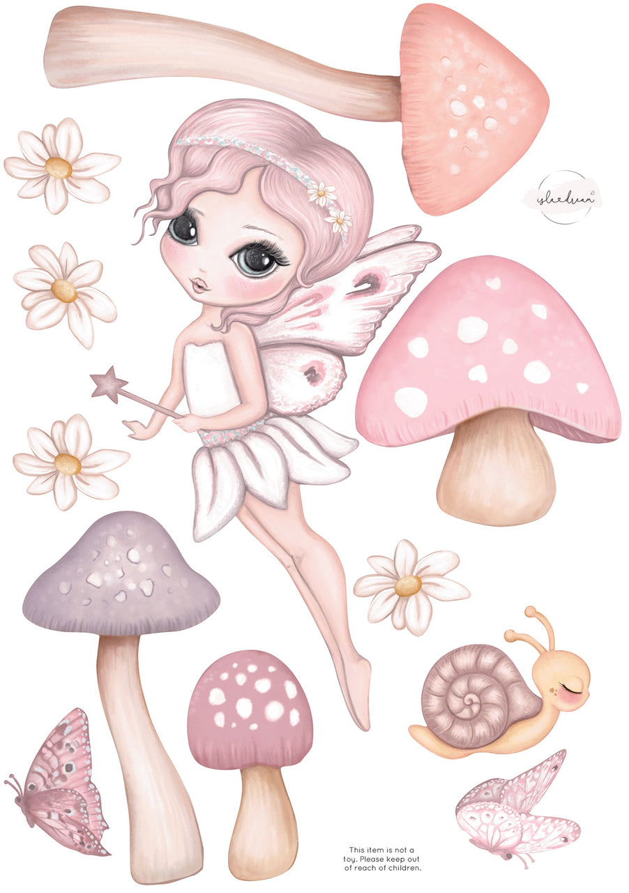 'Grace Flying' Fabric Wall Decals A3 - Isla Dream Prints