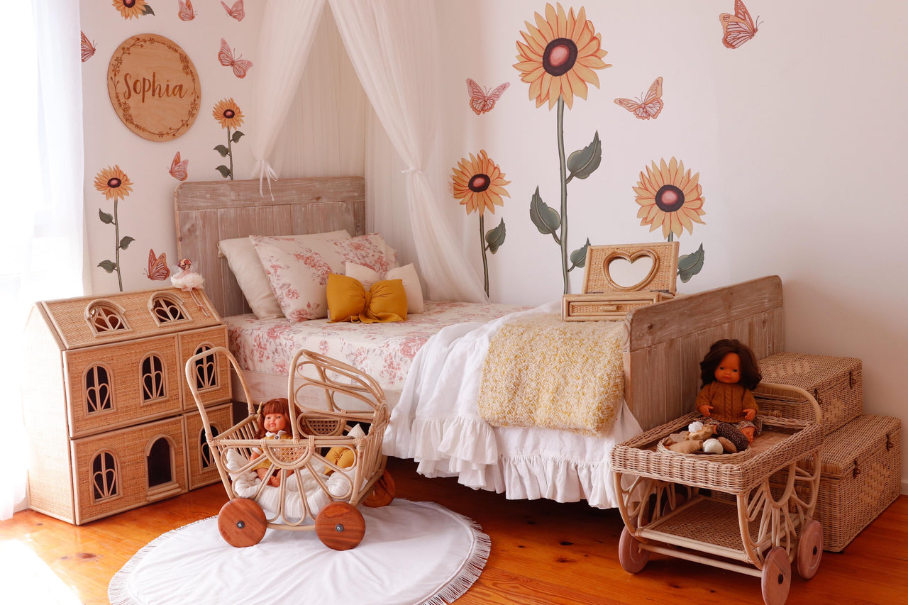 Sunflowers - Fabric wall decals - Isla Dream Prints