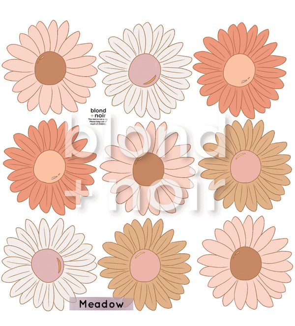 Boho Daisy Chain Florals - Fabric wall decals - Isla Dream Prints