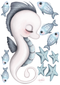 Sea Creatures - Fabric Wall Decals various sizes - Isla Dream Prints