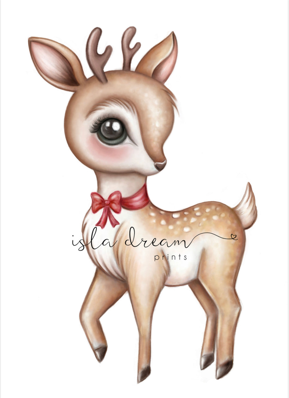 Félicie the Reindeer - Christmas Print - Isla Dream Prints