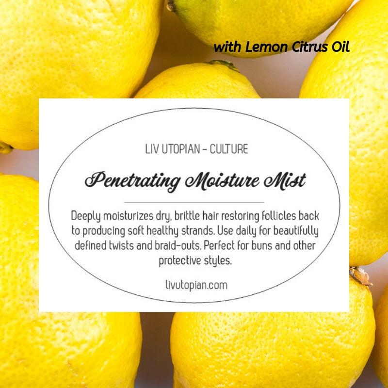 Deep Penetrating Moisture Mist with fresh Lemon Oil