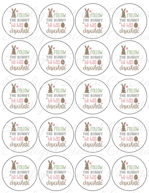 Follow the Easter bunny PDF tags
