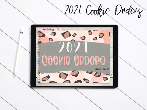 2021 Digital Cookie Order Form Planner